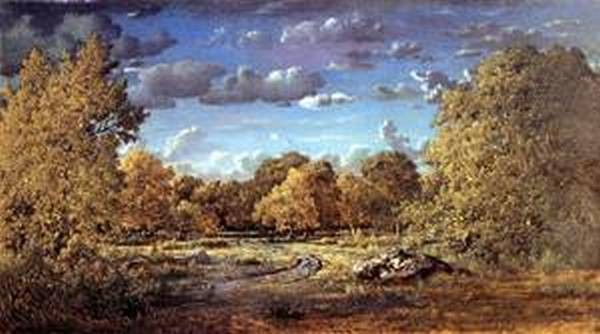 Glade of the Reine Blanche in the Fontainebleau Forest 1860